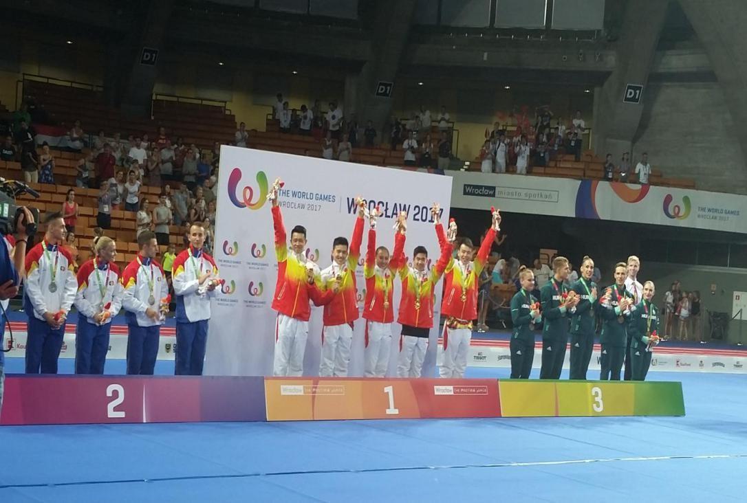 第十届世界运动会健美操比赛中国队获1金2银插图(1)