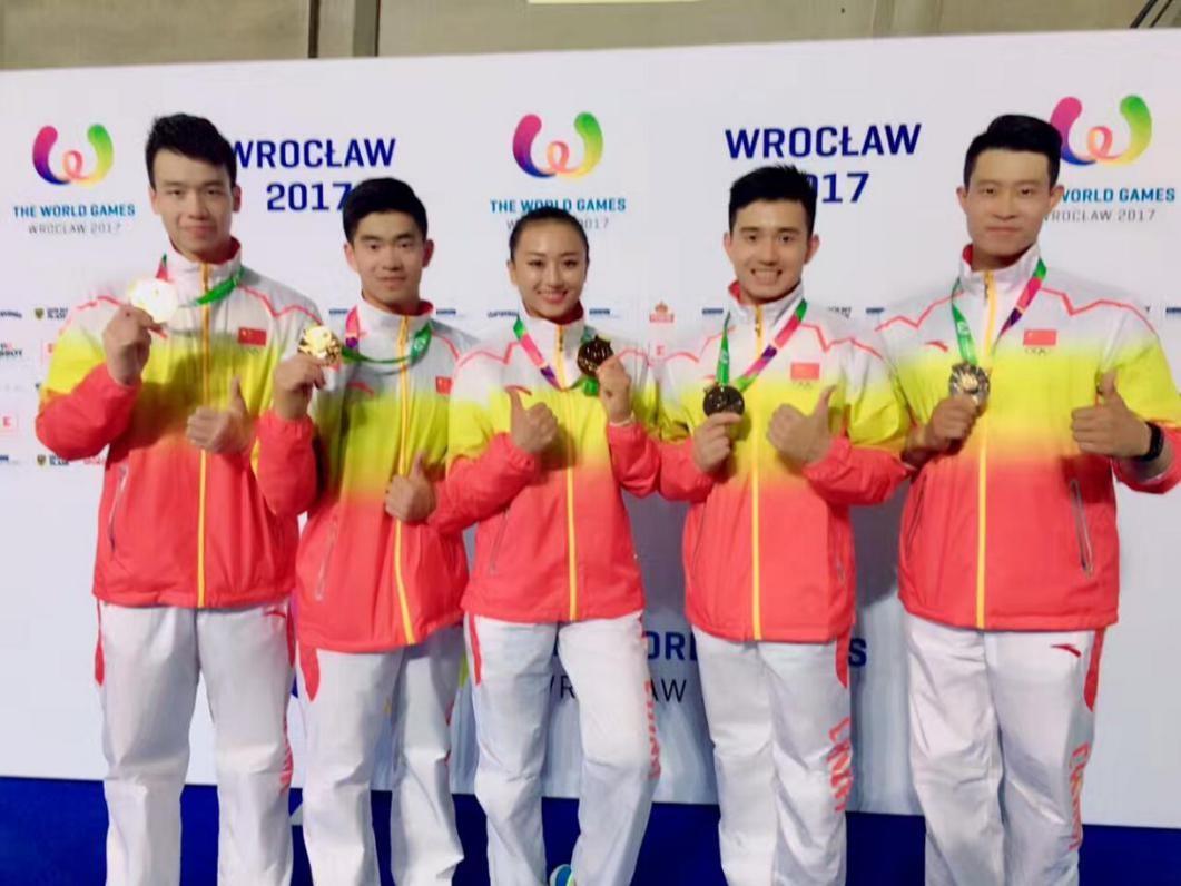 第十届世界运动会健美操比赛中国队获1金2银插图(2)