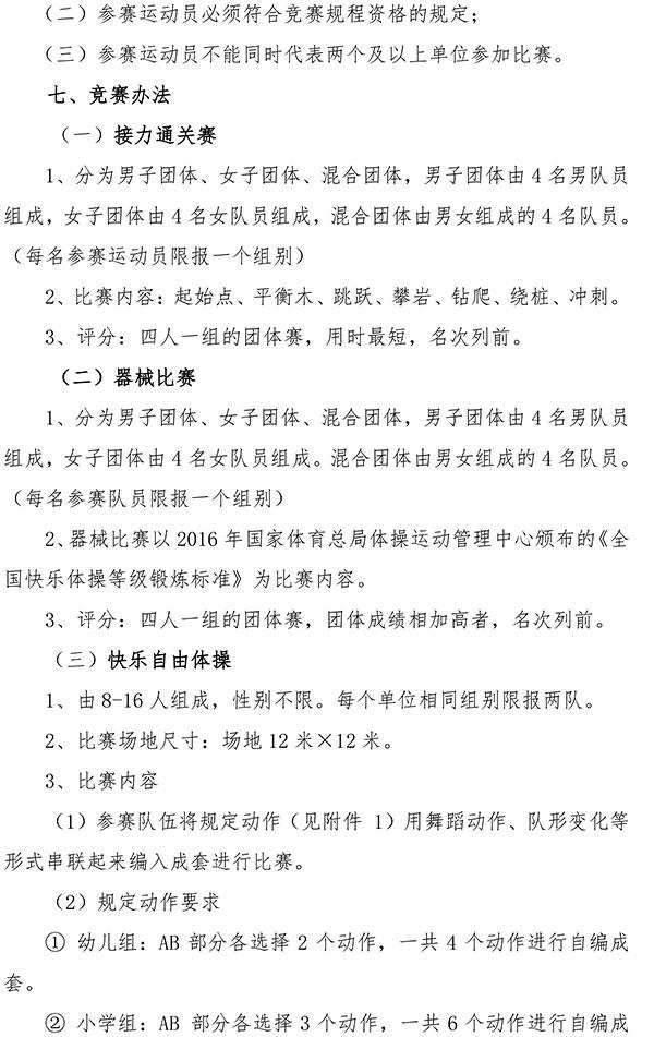 2019年全国快乐体操比赛(广东花都站)竞赛规程插图(1)