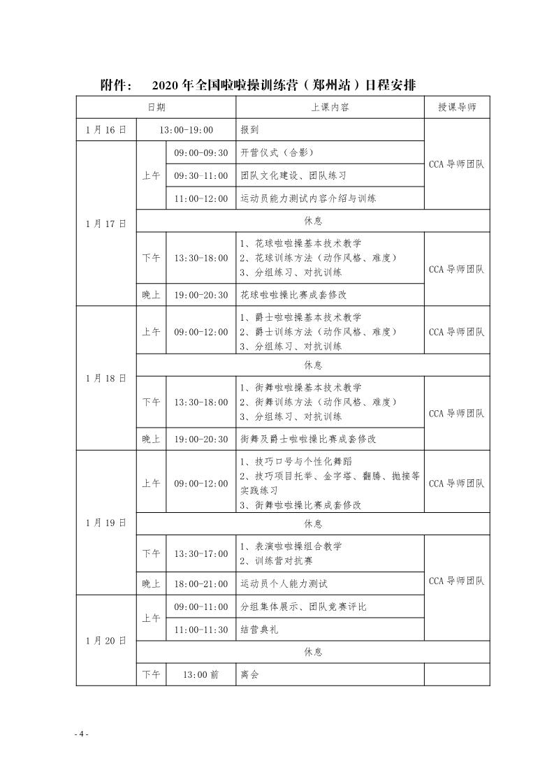 2020年(郑州站)全国啦啦操训练营插图(4)