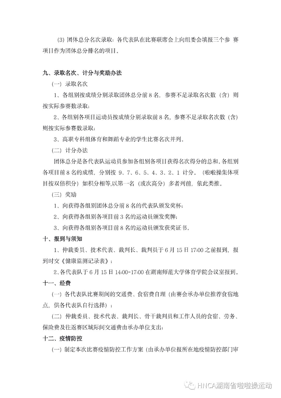 2021 年湖南省大学生啦啦操比赛参赛须知插图(4)