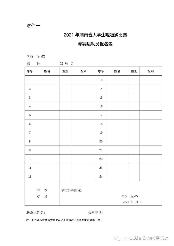 2021 年湖南省大学生啦啦操比赛参赛须知插图(7)